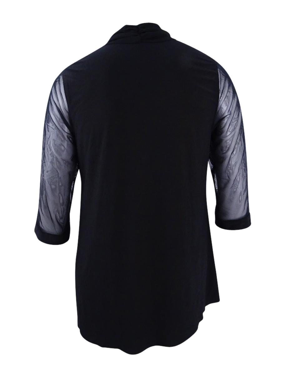 R-amp-M-Richards-Women-039-s-Plus-Size-Embellished-Lace-Trim-Shrug-Jacket thumbnail 4