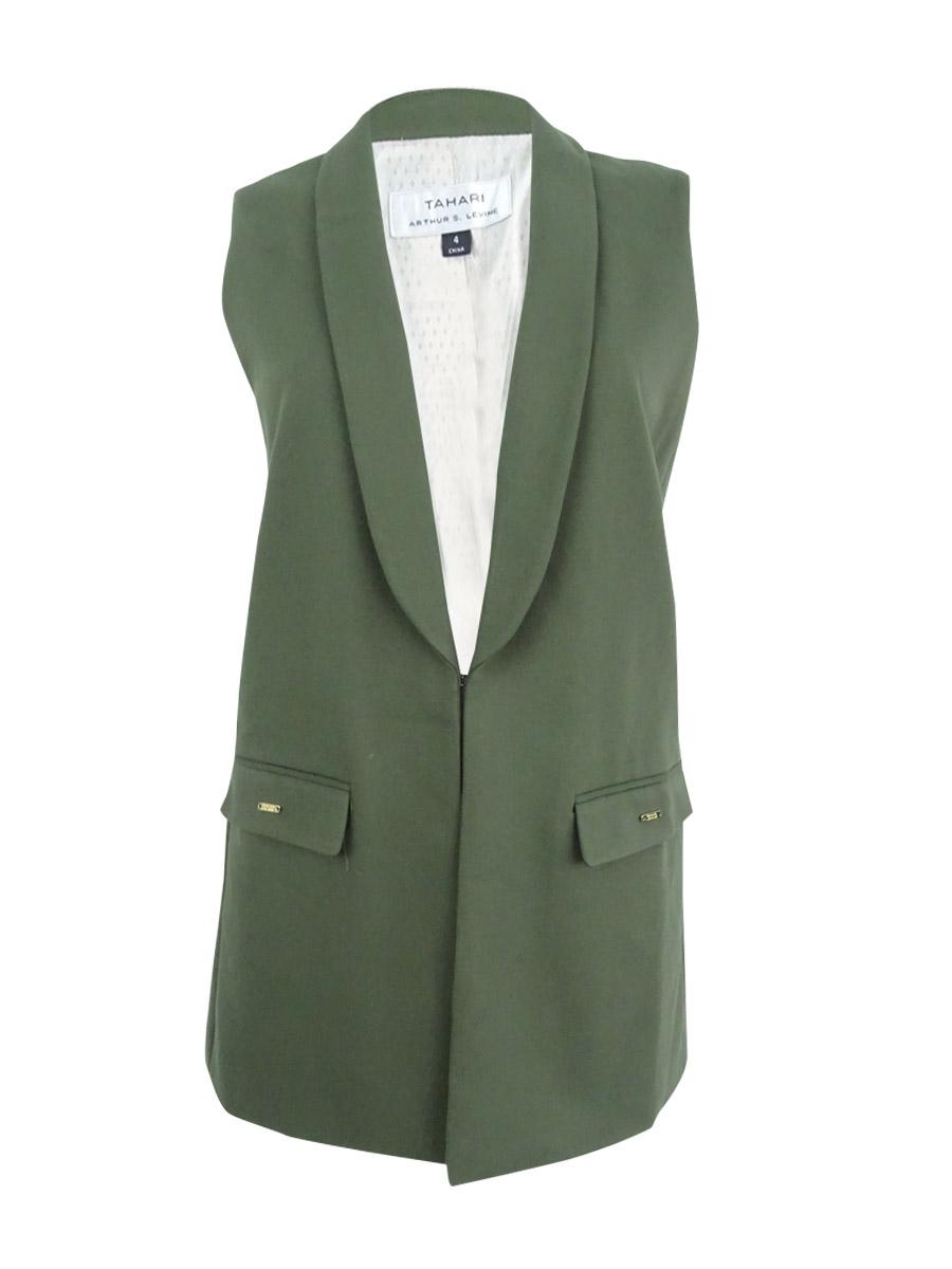 Tahari-ASL-Women-039-s-Shawl-Collar-Vest
