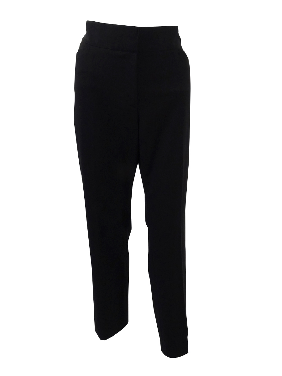 1372d17973e1a Tahari ASL Women's Bi-Stretch Straight-Leg Pants 12, Black ...