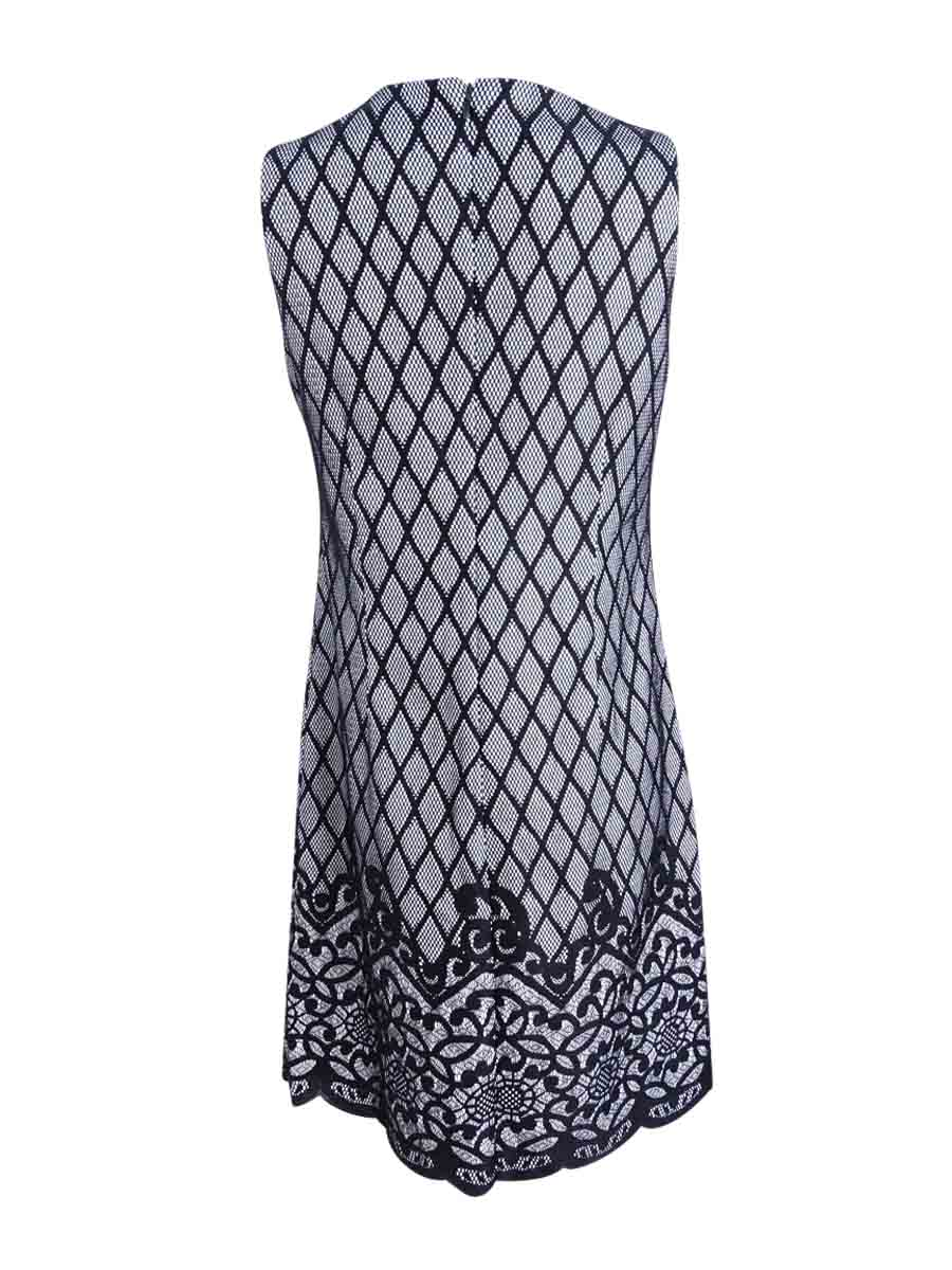 Jessica Simpson Women's  Two-Tone Lace-Print Shift Shift Shift Dress 5e9f1e