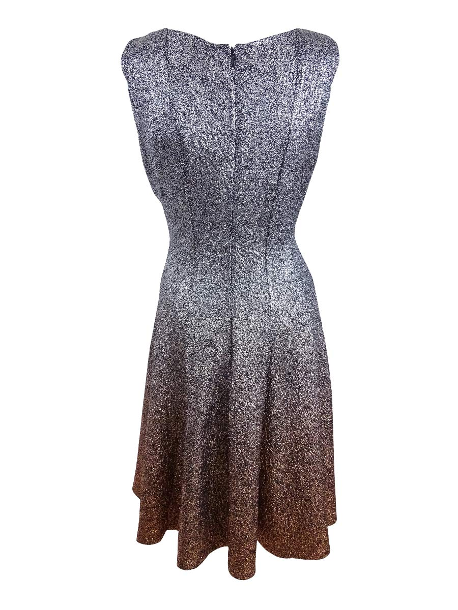 MSK Womens 1308 Silver Ombre Glitter Sleeveless Fit Flare Dress 8 B B.  About this product. Picture 1 of 4  Picture 2 of 4  Picture 3 of 4  Picture  4 of 4 2bba26f1cd6b