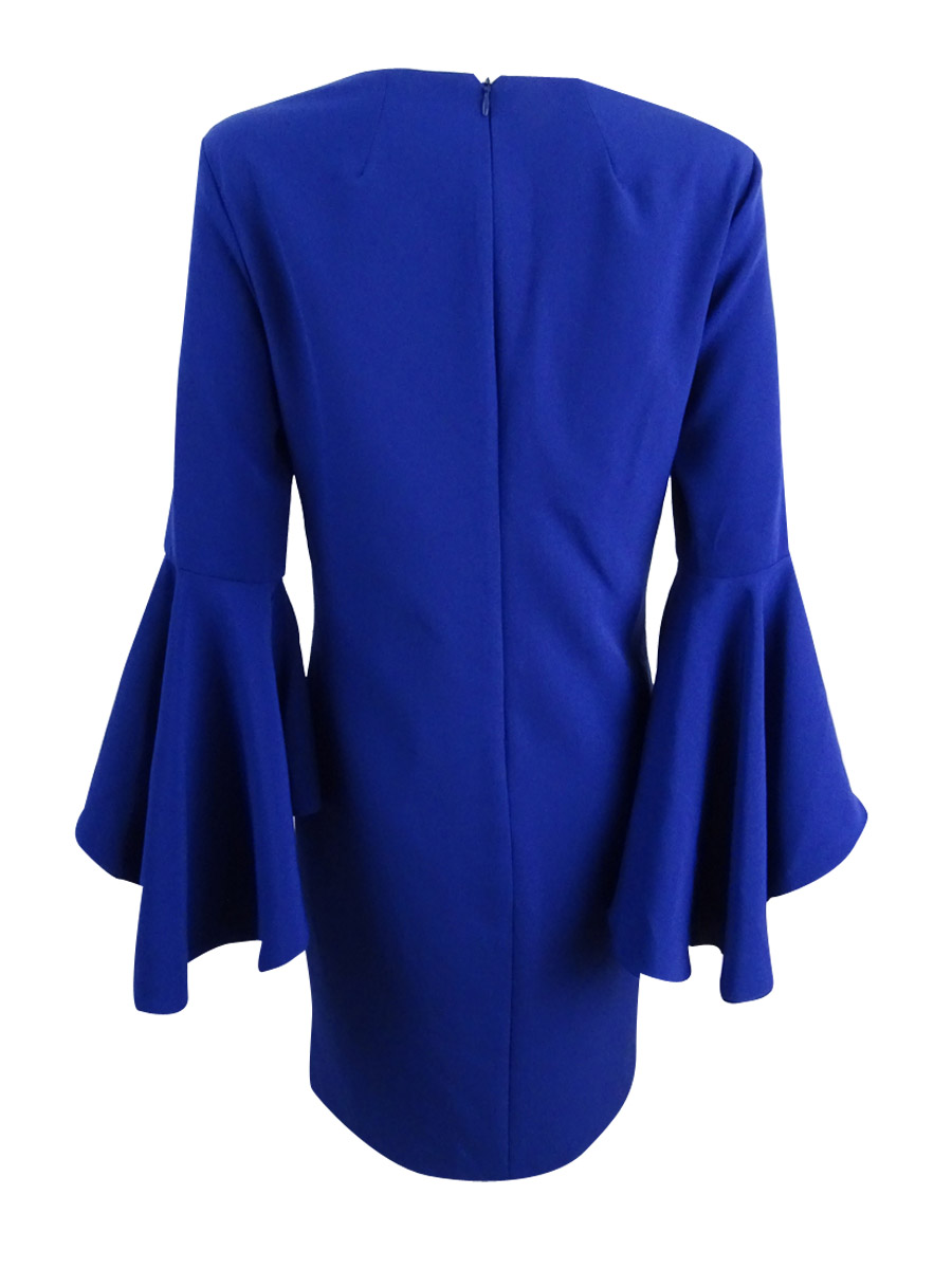 MSK-Women-039-s-Bell-Sleeve-Dress thumbnail 4