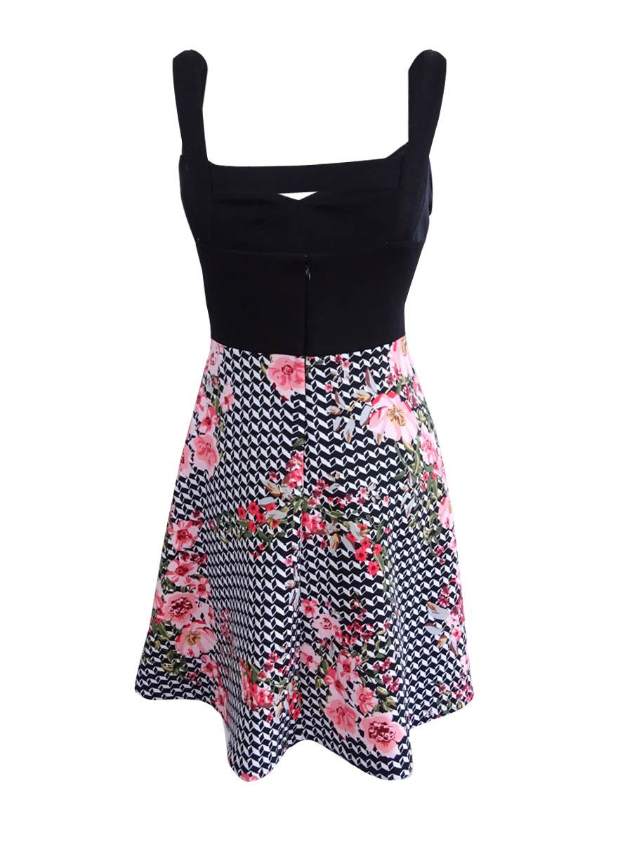 Guess-Women-039-s-Cutout-Fit-amp-Flare-Dress thumbnail 4