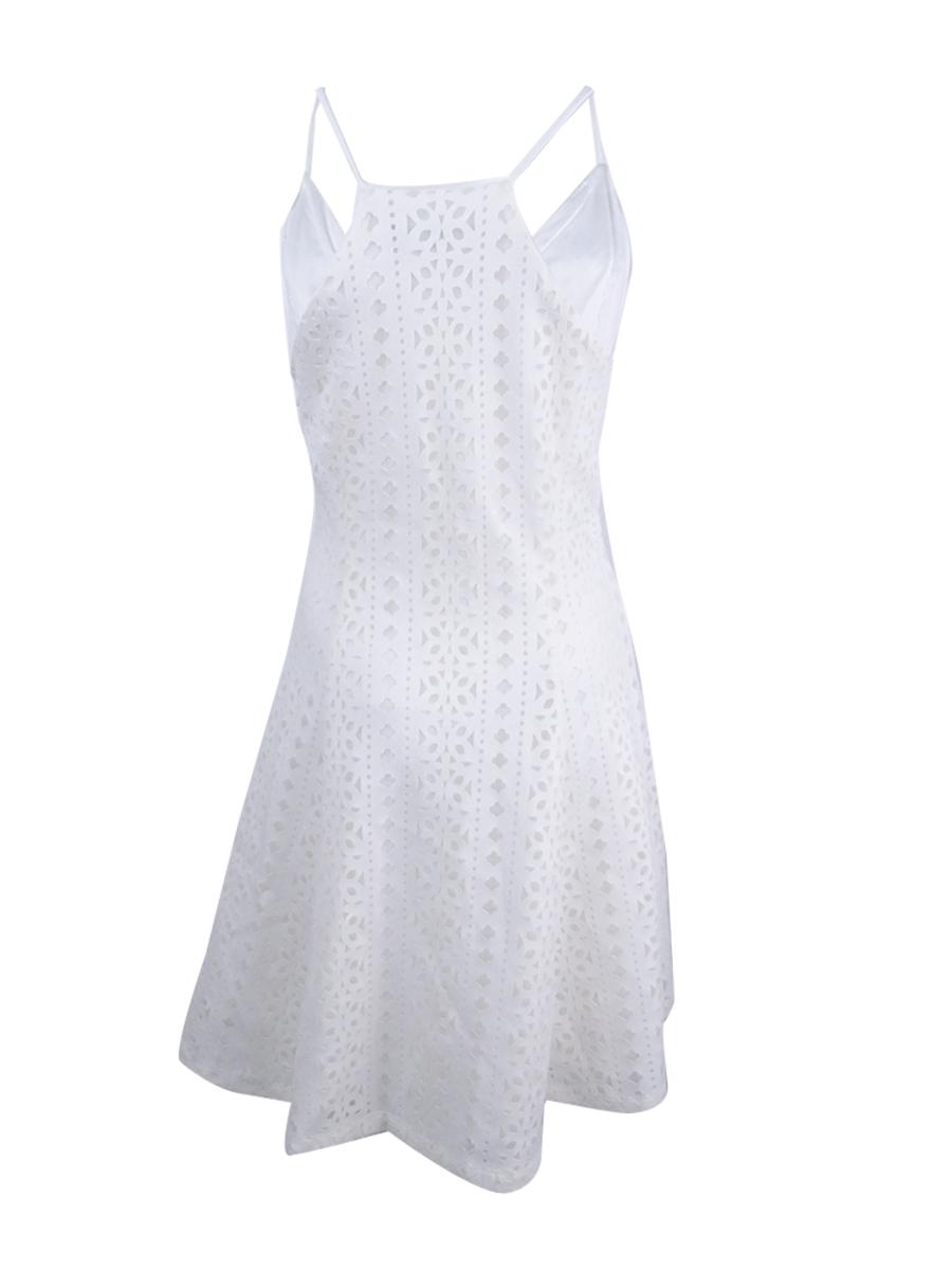 Guess-Women-039-s-Laser-Cut-Fit-amp-Flare-Slip-Dress thumbnail 4
