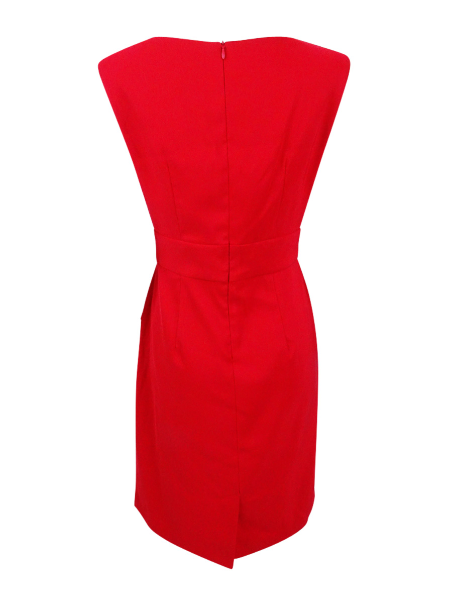 Connected-Women-039-s-Embellished-Tiered-Sheath-Dress-12-Red thumbnail 5