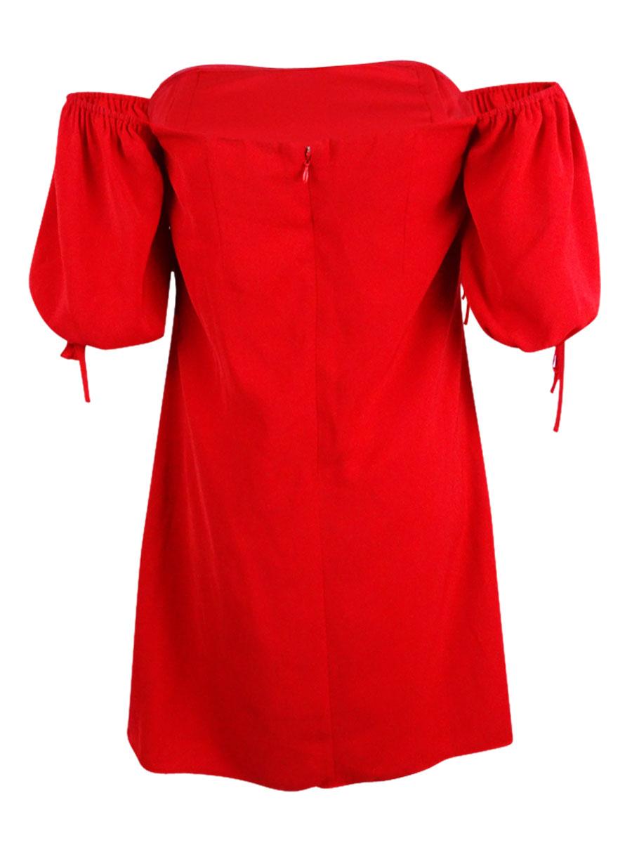 Rachel-Roy-Women-039-s-Off-The-Shoulder-Sweetheart-Dress thumbnail 4