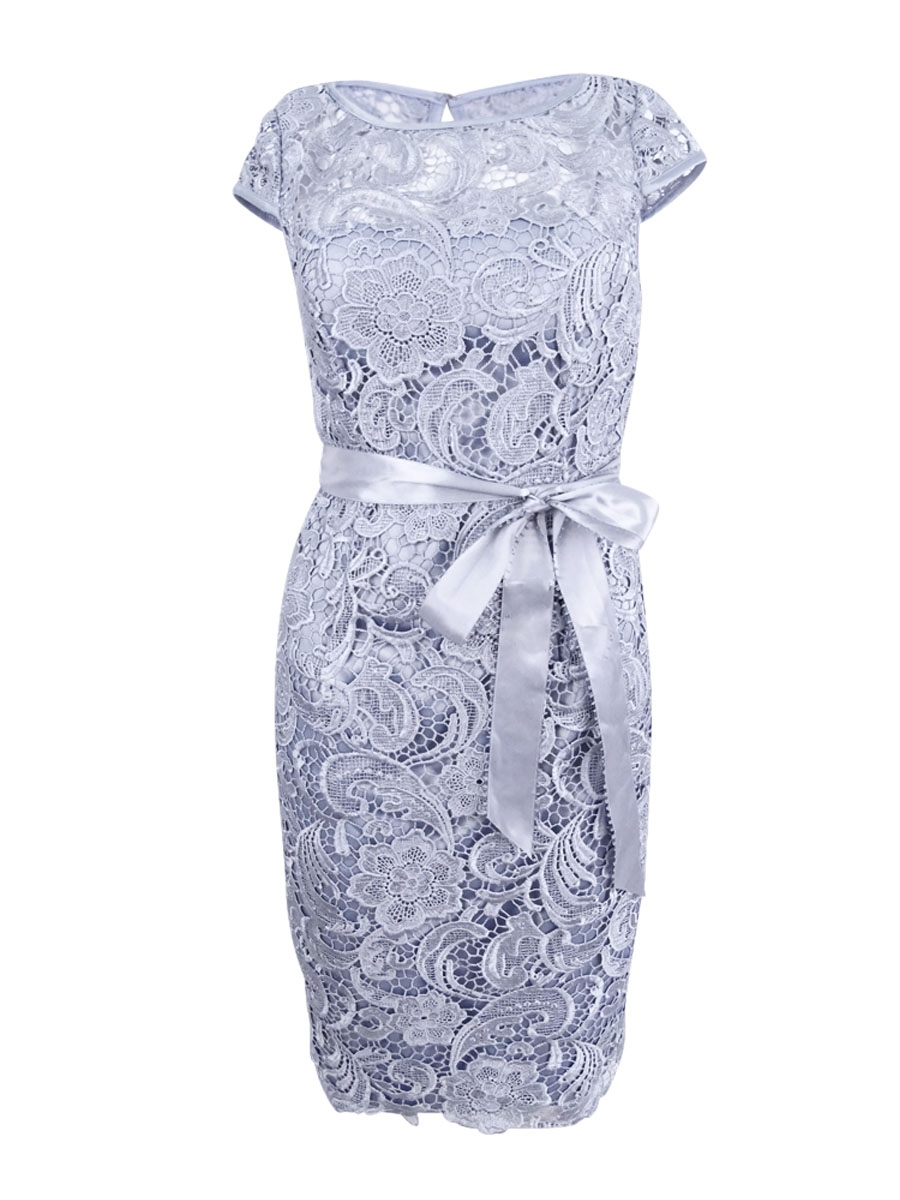 Adrianna Papell Women\'s Cap-Sleeve Illusion Lace Sheath Dress | eBay