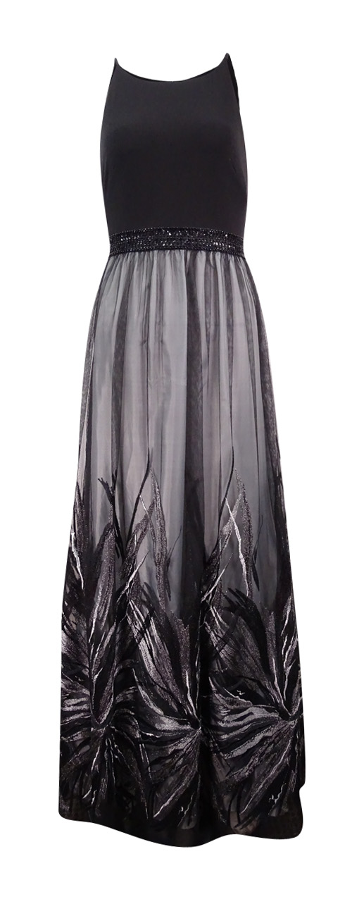 Calvin-Klein-Women-039-s-Embroidered-Beaded-Jersey-Gown