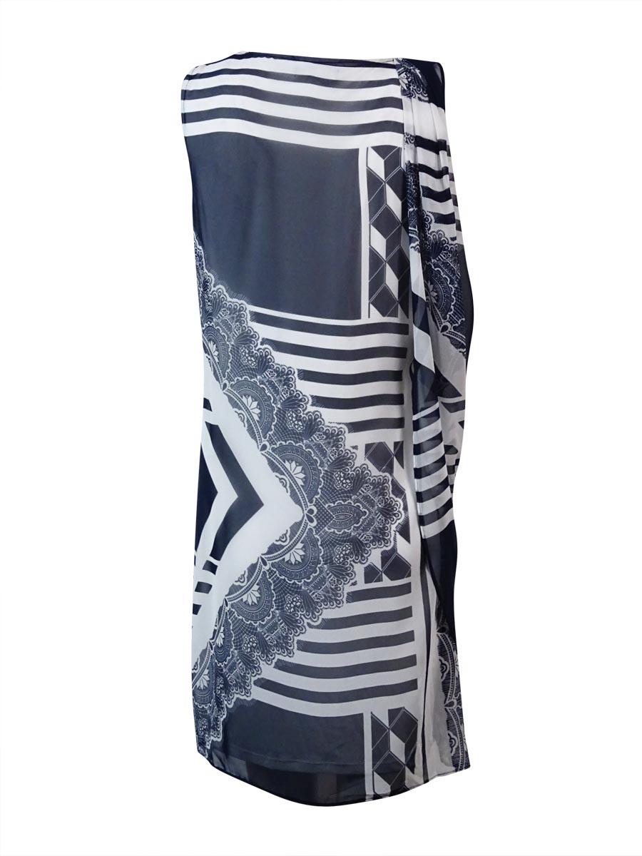 Alfani-Women-039-s-Printed-Draped-Overlay-Dress thumbnail 4