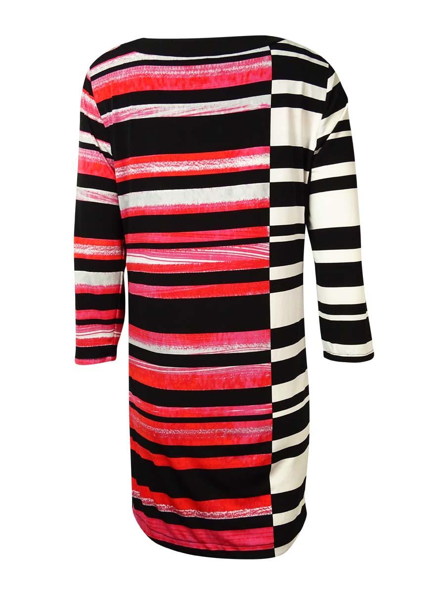 Alfani-Women-039-s-Asymmetrical-Keyhole-Jersey-Dress thumbnail 4