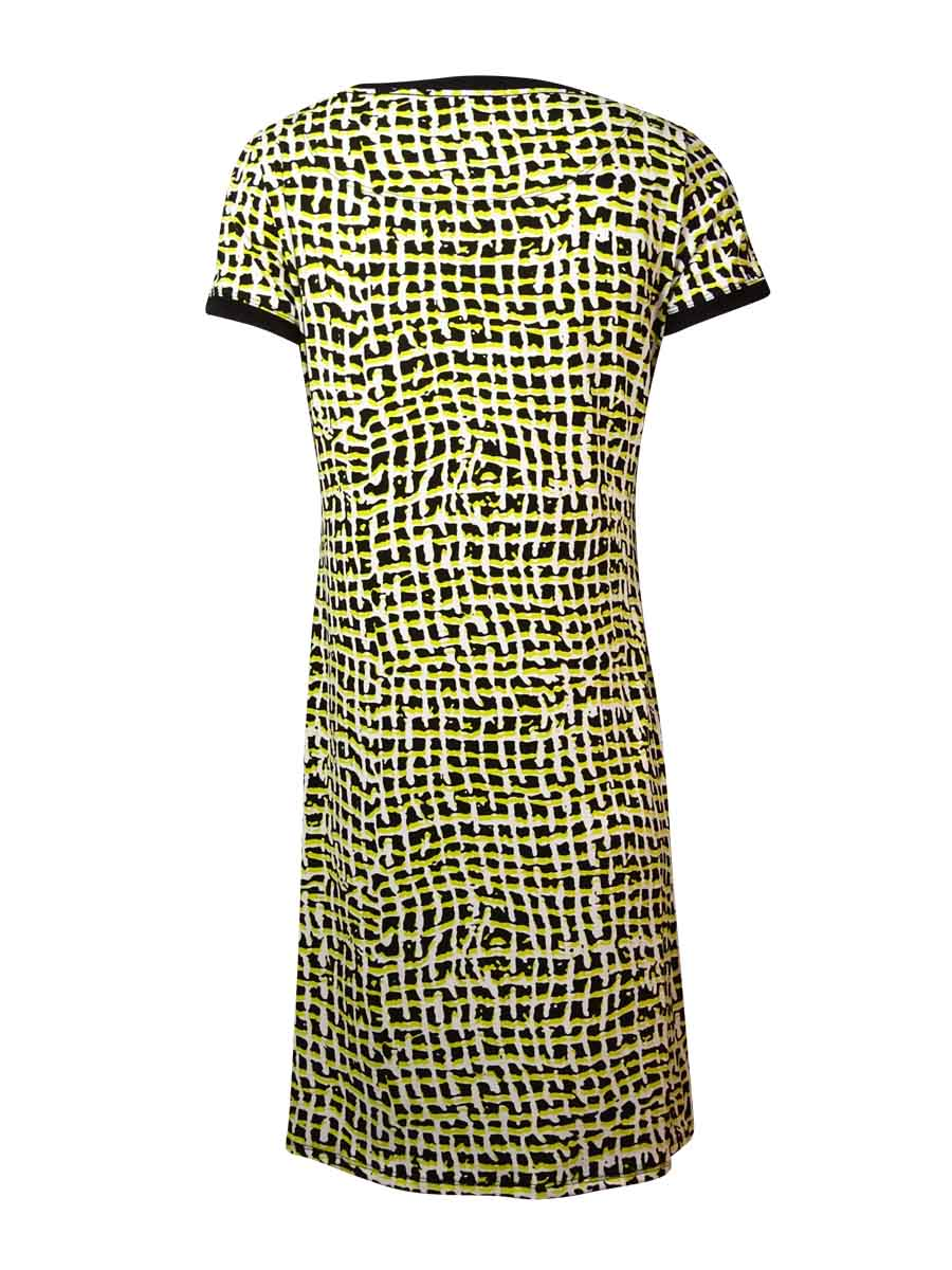Calvin-Klein-Women-039-s-Printed-Jersey-Shift-Dress thumbnail 4