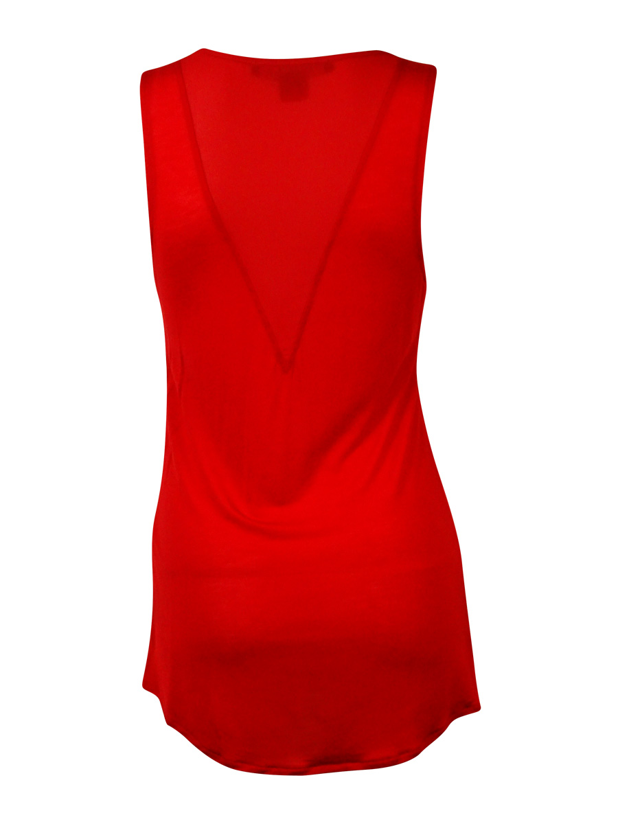 French-Connection-Women-039-s-039-Polly-039-Sleeveless-V-Neck-Blouse thumbnail 4
