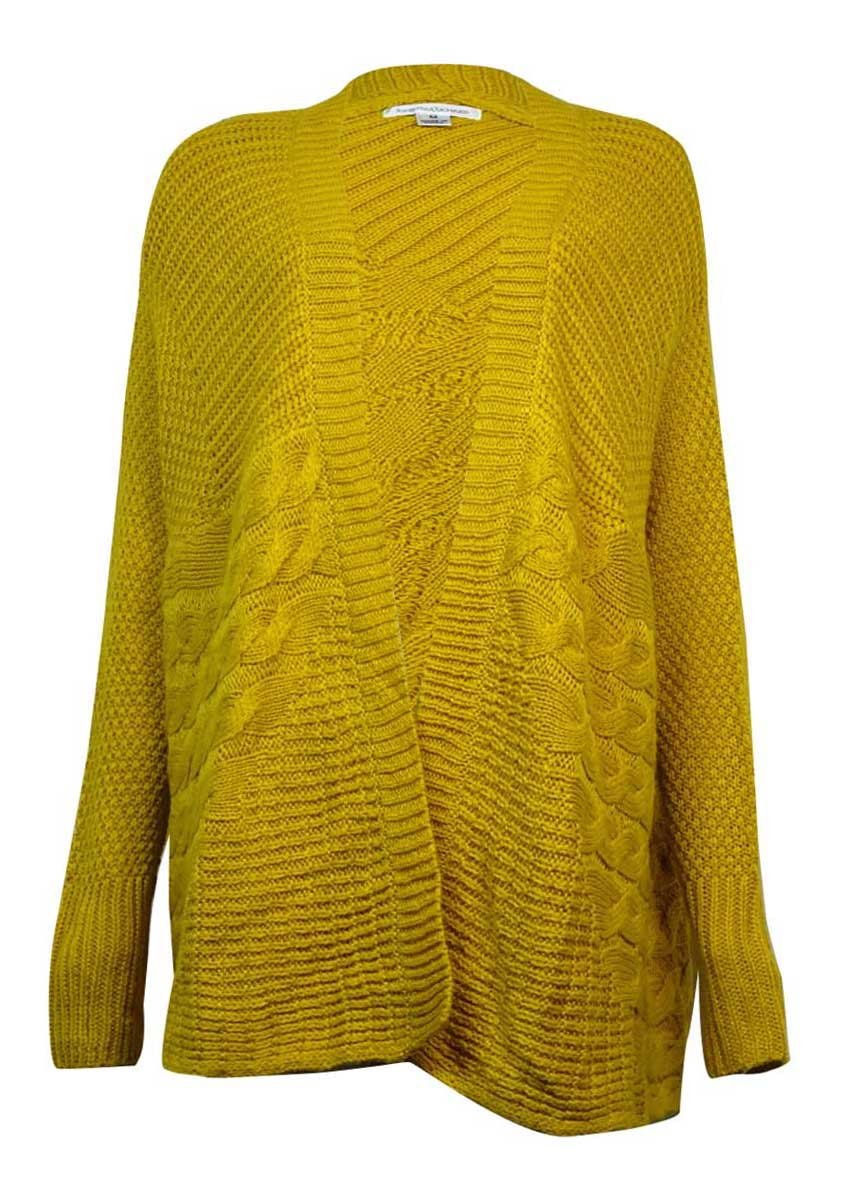 John Paul Richard 6568 Womens Yellow Open Front Cardigan Sweater M ...