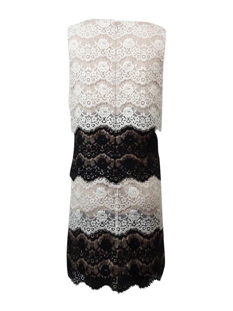 Jessica-Simpson-Women-039-s-Multi-Color-Lace-Dress thumbnail 8