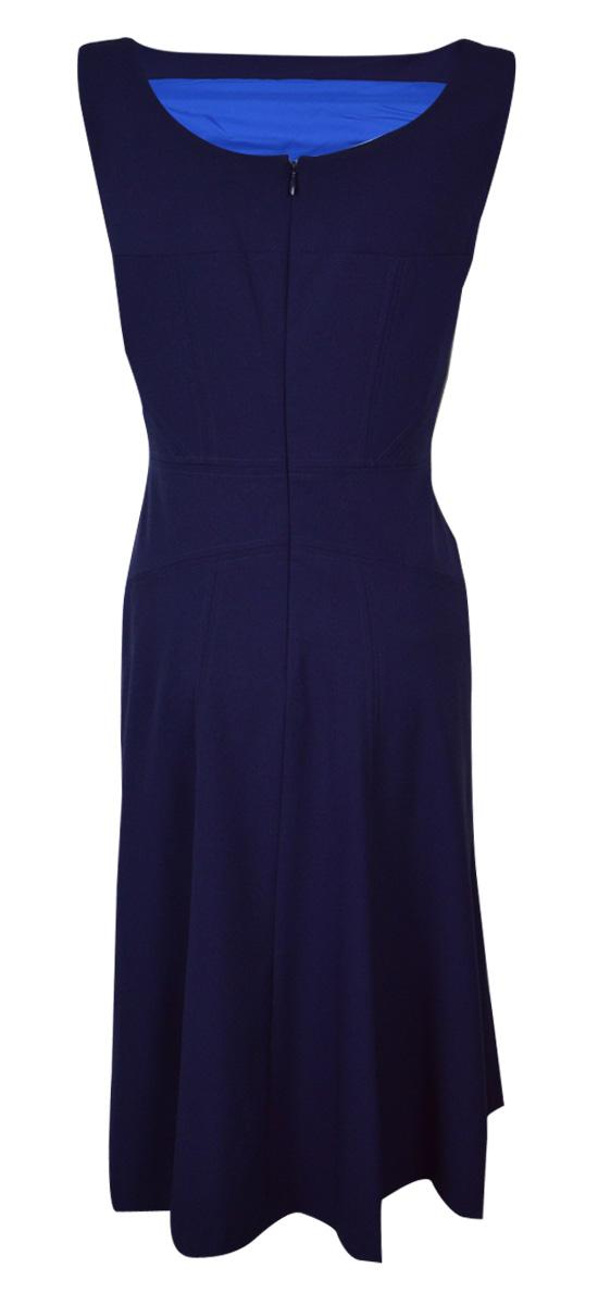 thumbnail 4 - Marc New York Women's Scoop Neck Sleeveless Flared Dress (2, Nightfall)