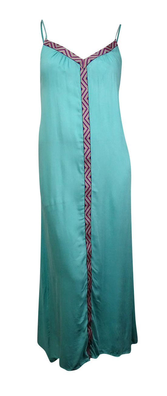 c8d2b42ccb Raviya Women's Embroidered Maxi Dress Cover-Up M, Seagreen ...