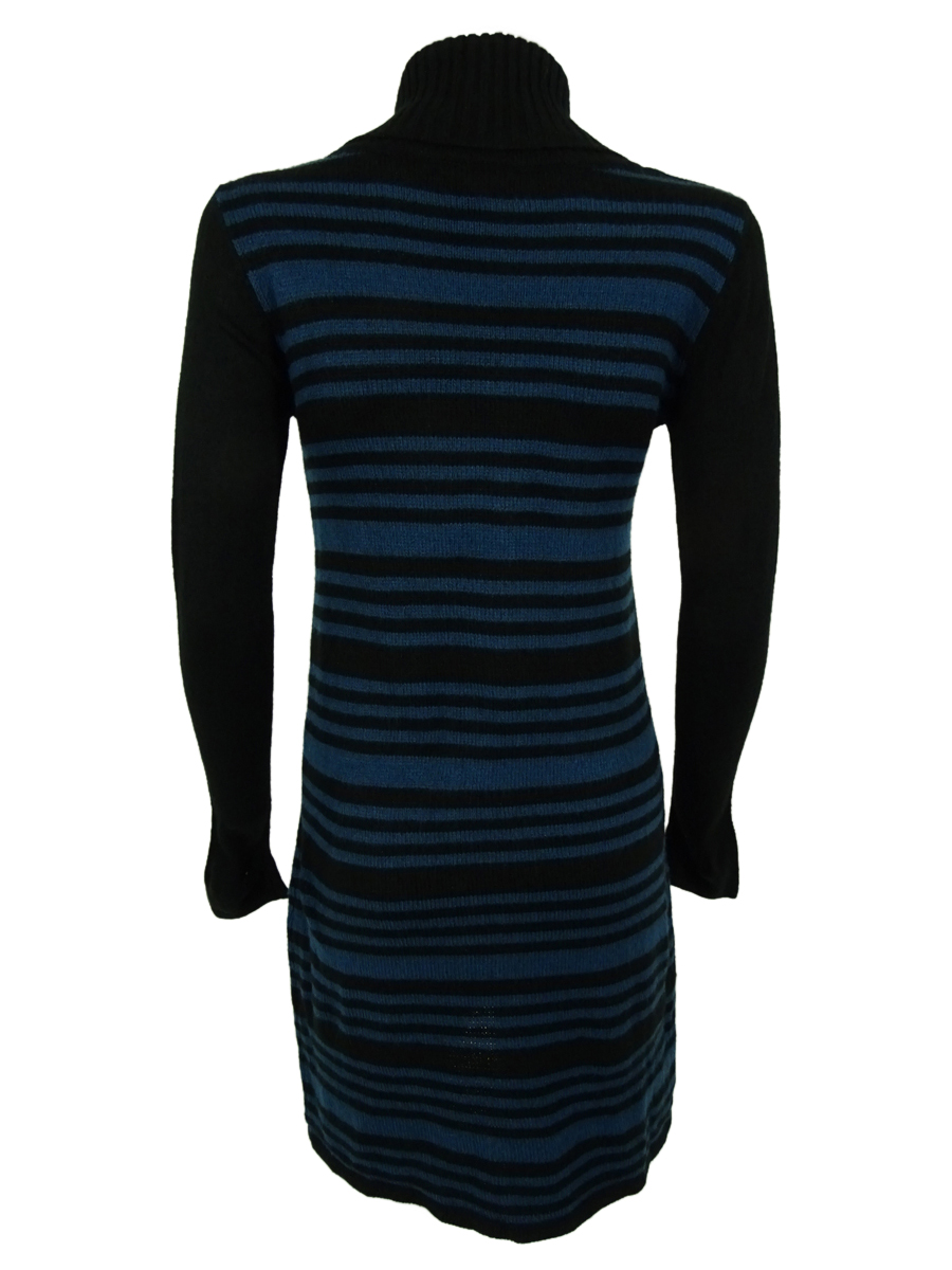 Style-amp-Co-Women-039-s-Striped-Lurex-Knit-Pocket-Sweater-Dress thumbnail 6