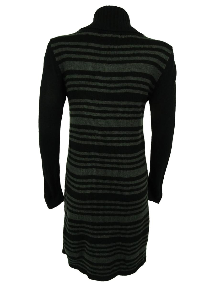 Style-amp-Co-Women-039-s-Striped-Lurex-Knit-Pocket-Sweater-Dress thumbnail 8