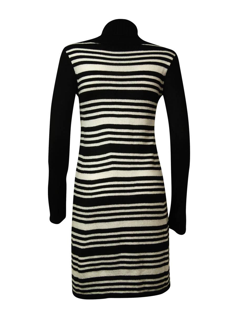 Style-amp-Co-Women-039-s-Striped-Lurex-Knit-Pocket-Sweater-Dress thumbnail 10