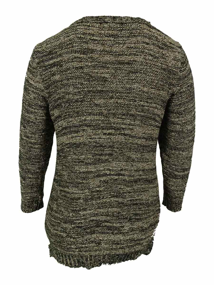 Style-amp-Co-Women-039-s-Side-Vented-Marled-Sweater