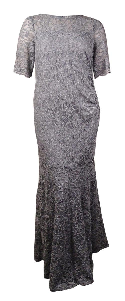 Xscape L4018 Lace Shimmer Mermaid Gown Womens Dress 16w | eBay