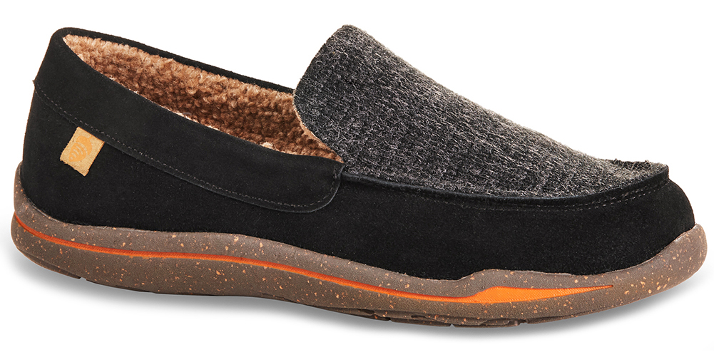 6802c5e9392 Acorn Men's Ellsworth Suede Moc Slipper Black Size 10 49129435027 | eBay