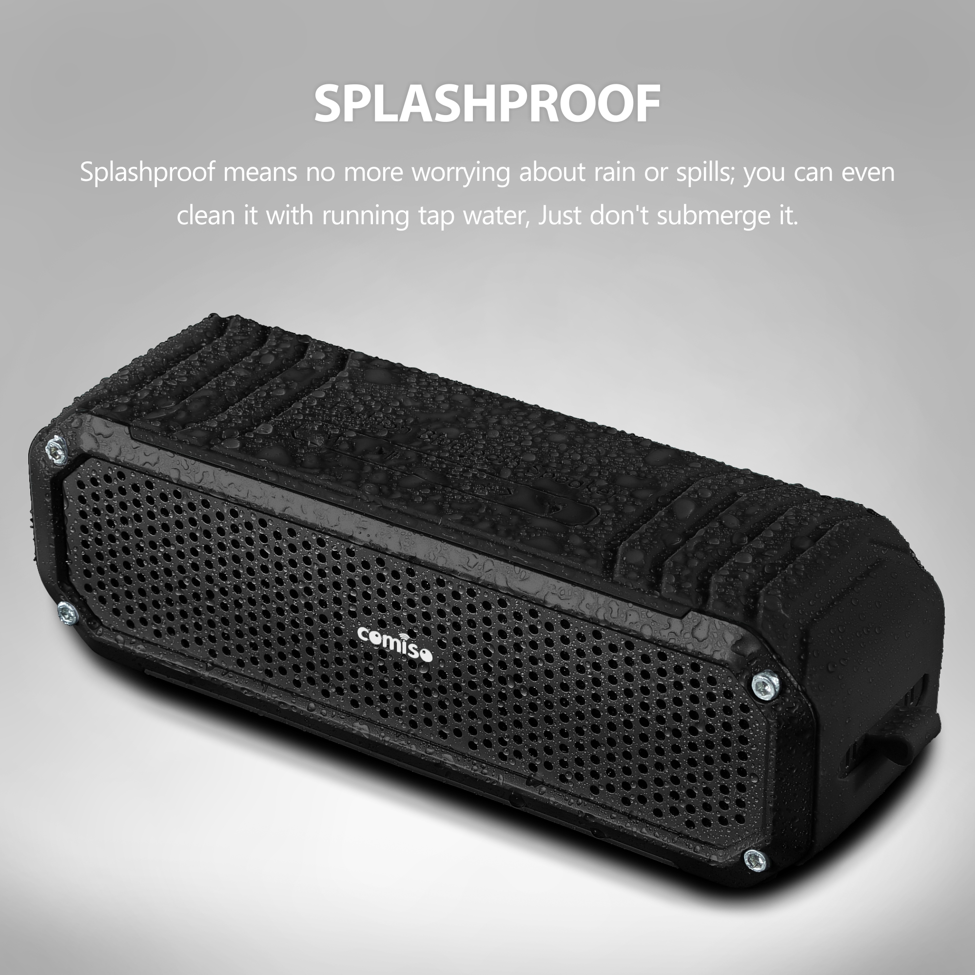 portable bluetooth 4 0 wireless stereo speaker for echo. Black Bedroom Furniture Sets. Home Design Ideas