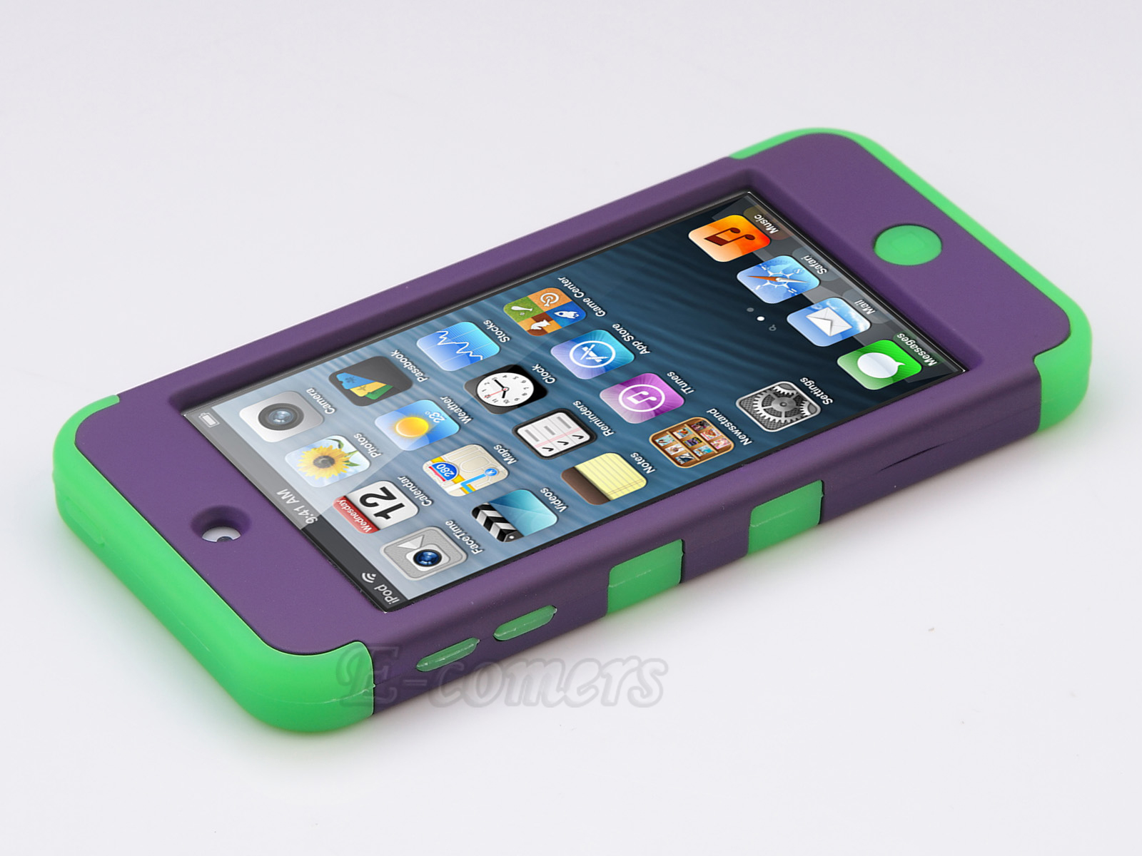 Apple-iPod-Touch-5-6th-Gen-Case-Hybrid-High-Impact-Armor-Hard-amp-Soft-Rubber-Cover thumbnail 31
