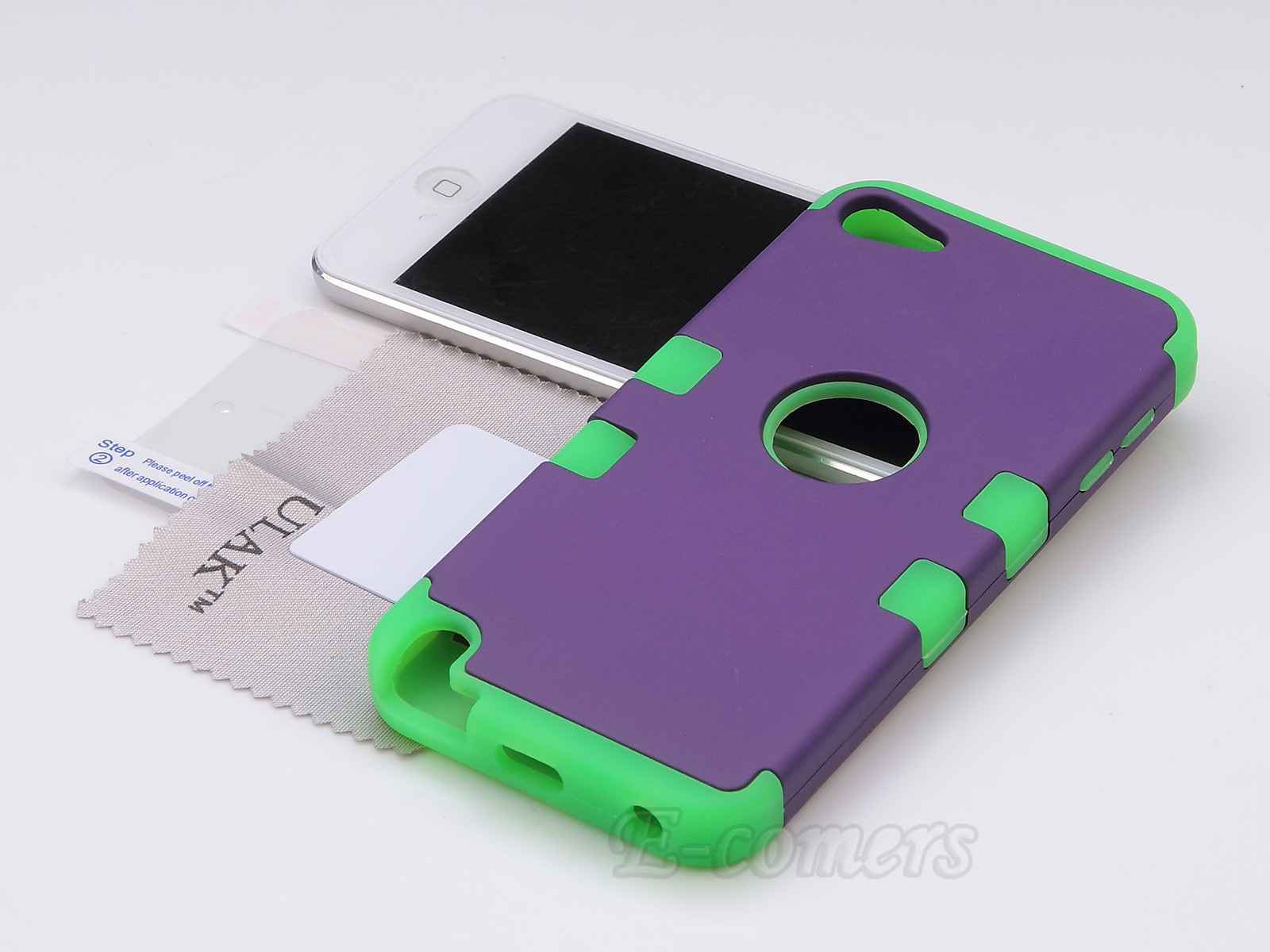Apple-iPod-Touch-5-6th-Gen-Case-Hybrid-High-Impact-Armor-Hard-amp-Soft-Rubber-Cover thumbnail 32