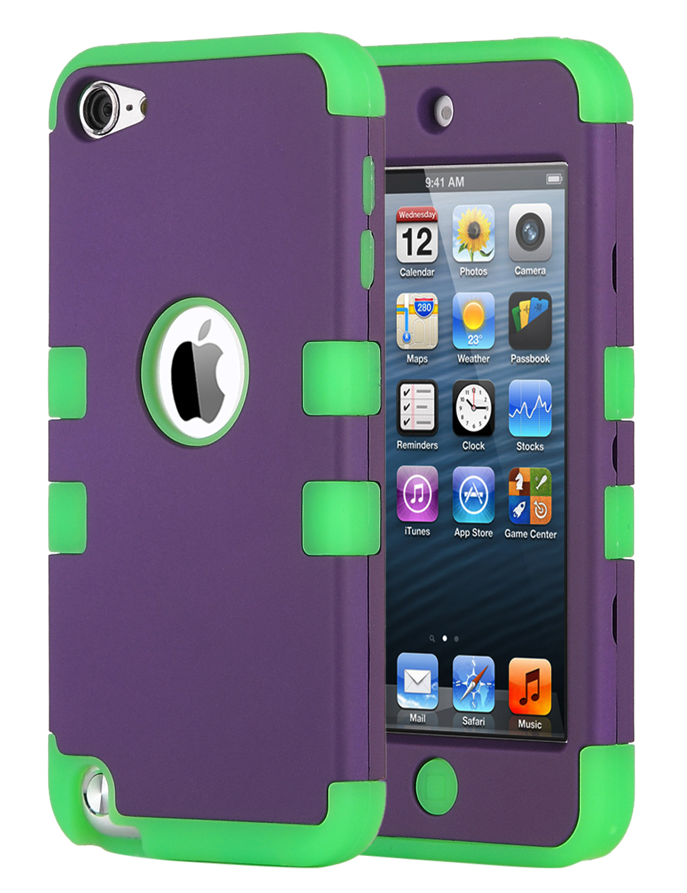 Apple-iPod-Touch-5-6th-Gen-Case-Hybrid-High-Impact-Armor-Hard-amp-Soft-Rubber-Cover thumbnail 28