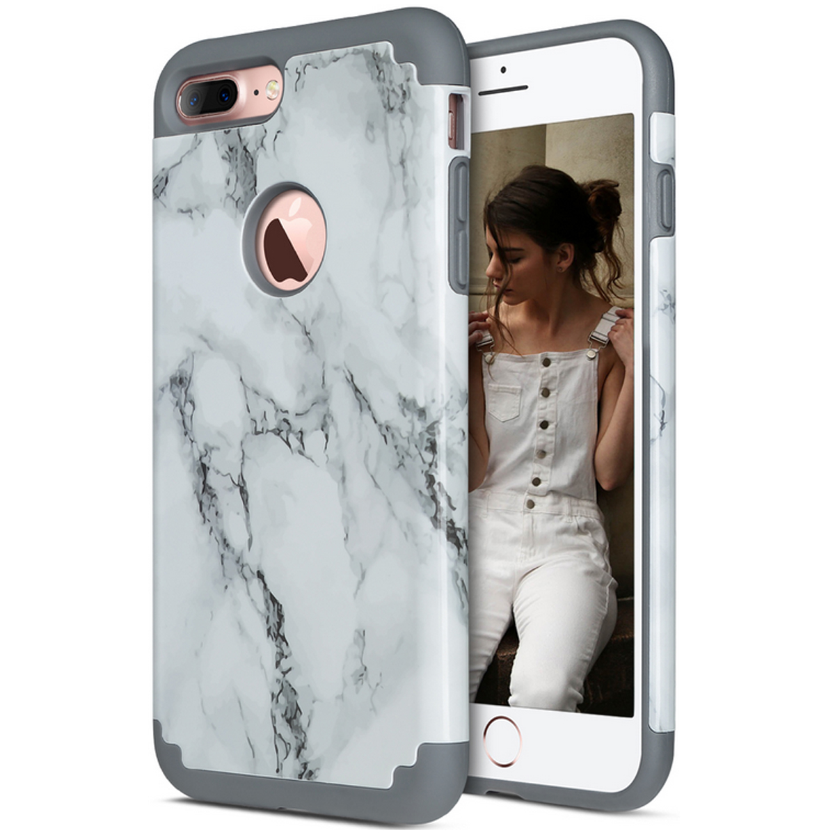 Ultra Slim Marble Pattern Rubber Protective Case Cover For