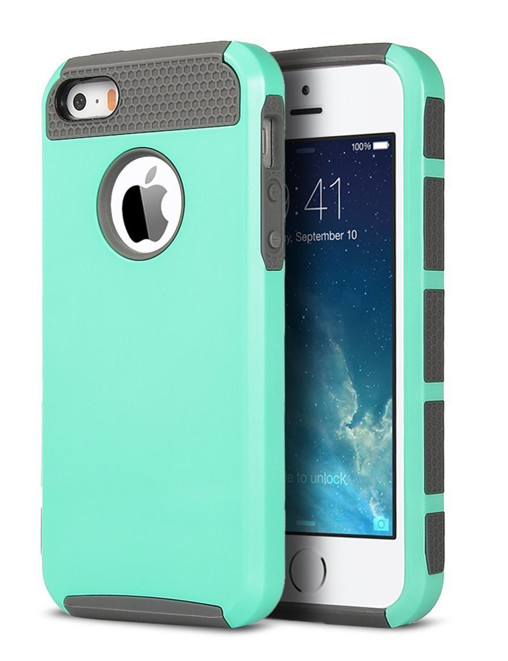 shockproof rugged hybrid rubber hard cover case for apple. Black Bedroom Furniture Sets. Home Design Ideas