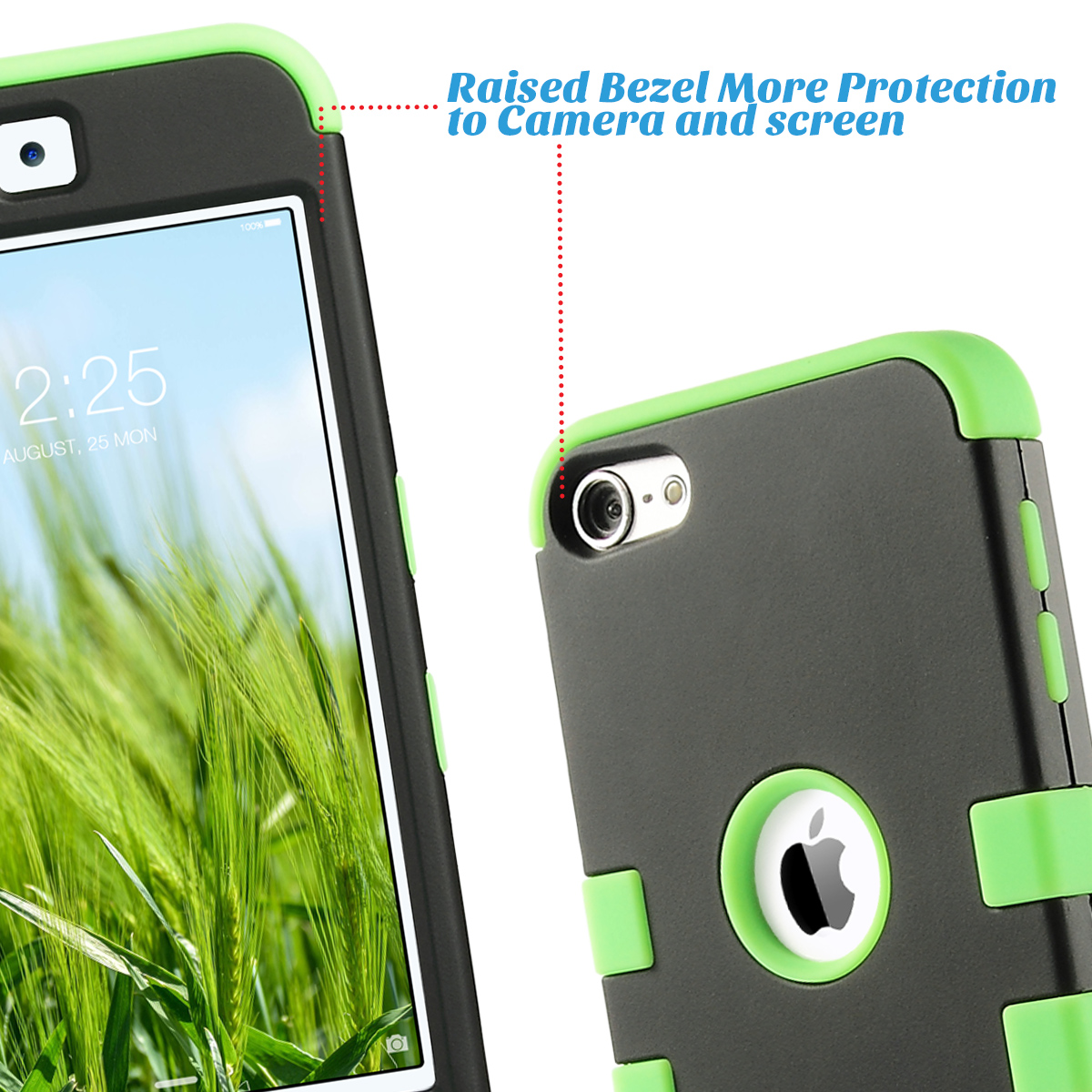 Apple-iPod-Touch-5-6th-Gen-Case-Hybrid-High-Impact-Armor-Hard-amp-Soft-Rubber-Cover thumbnail 15