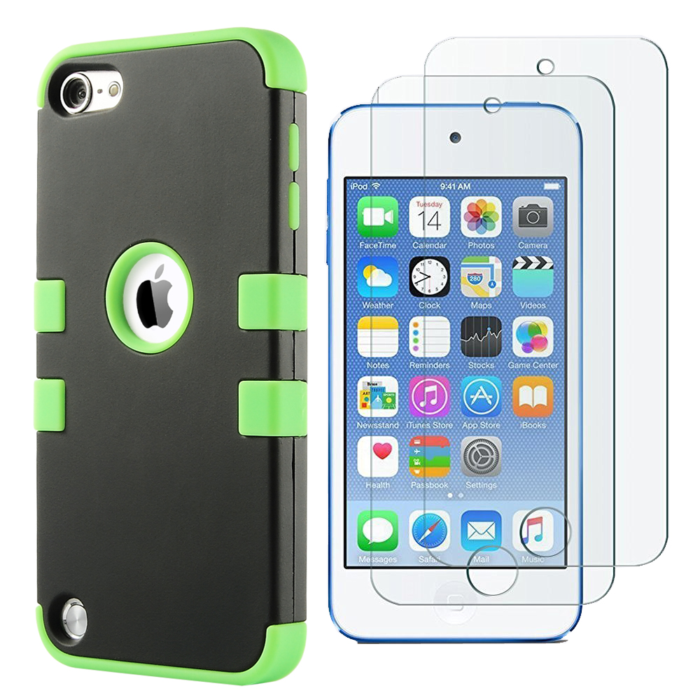 Apple-iPod-Touch-5-6th-Gen-Case-Hybrid-High-Impact-Armor-Hard-amp-Soft-Rubber-Cover thumbnail 12