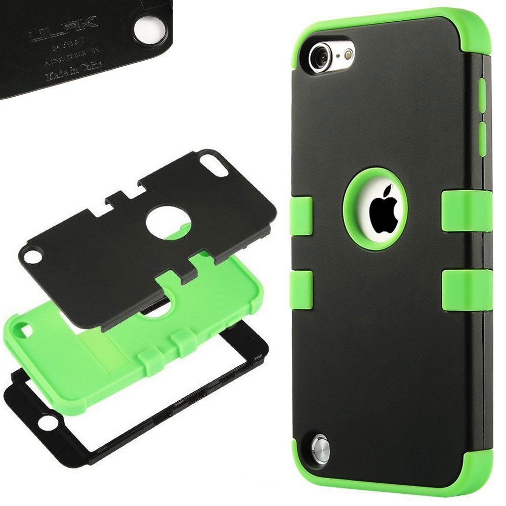 Apple-iPod-Touch-5-6th-Gen-Case-Hybrid-High-Impact-Armor-Hard-amp-Soft-Rubber-Cover thumbnail 16