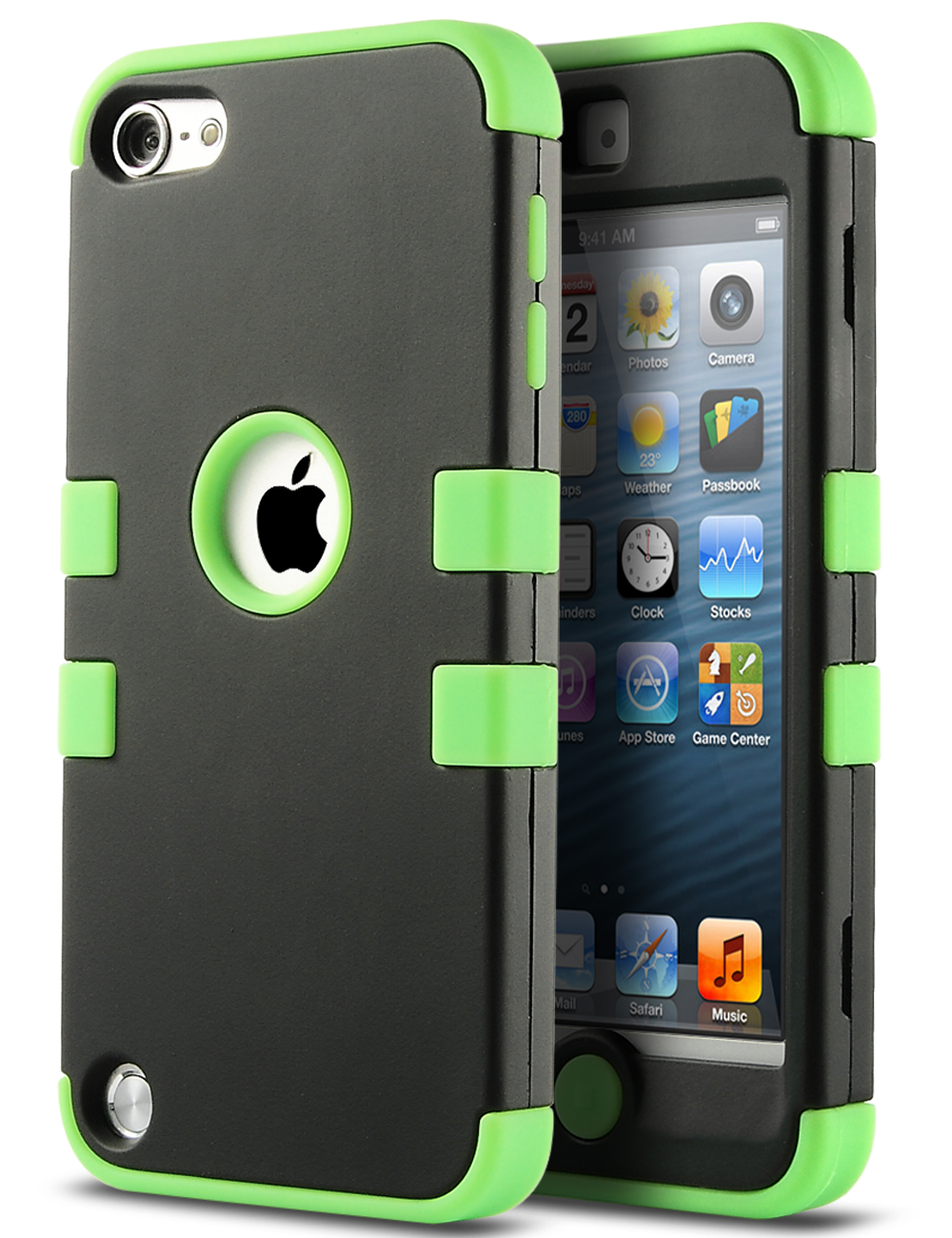 Apple-iPod-Touch-5-6th-Gen-Case-Hybrid-High-Impact-Armor-Hard-amp-Soft-Rubber-Cover thumbnail 11