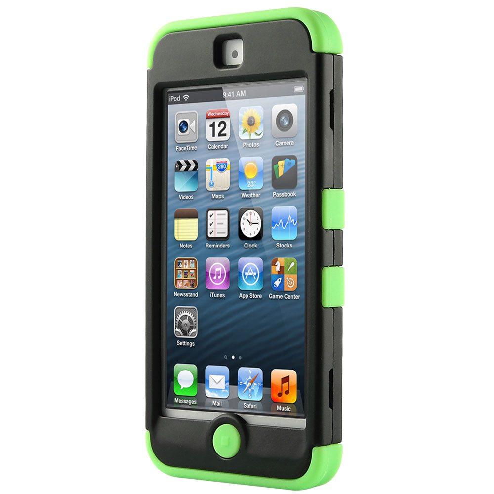 Apple-iPod-Touch-5-6th-Gen-Case-Hybrid-High-Impact-Armor-Hard-amp-Soft-Rubber-Cover thumbnail 17
