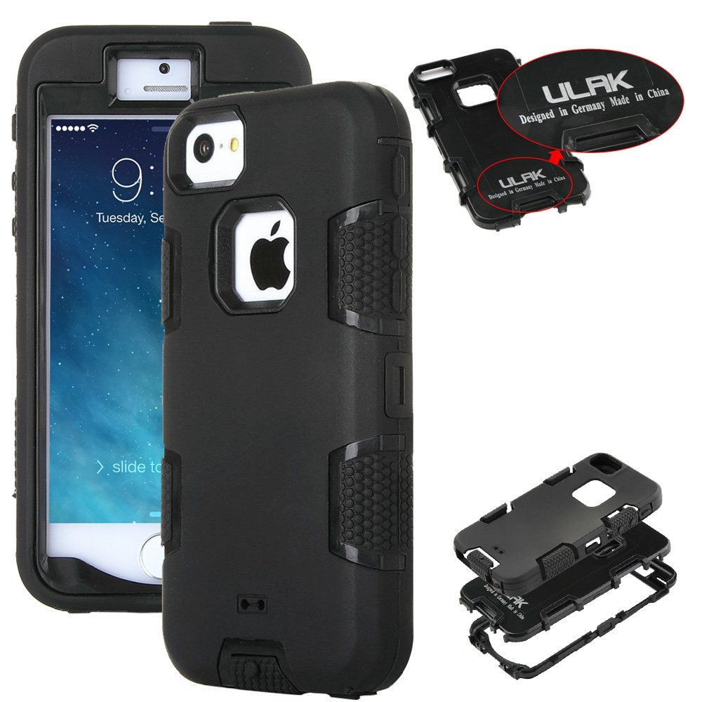 competitive price 83183 bfe84 Details about ULAK Hybrid Rugged Rubber Hard Shockproof Bumper Apple iPhone  SE Cover 5S 5 Case