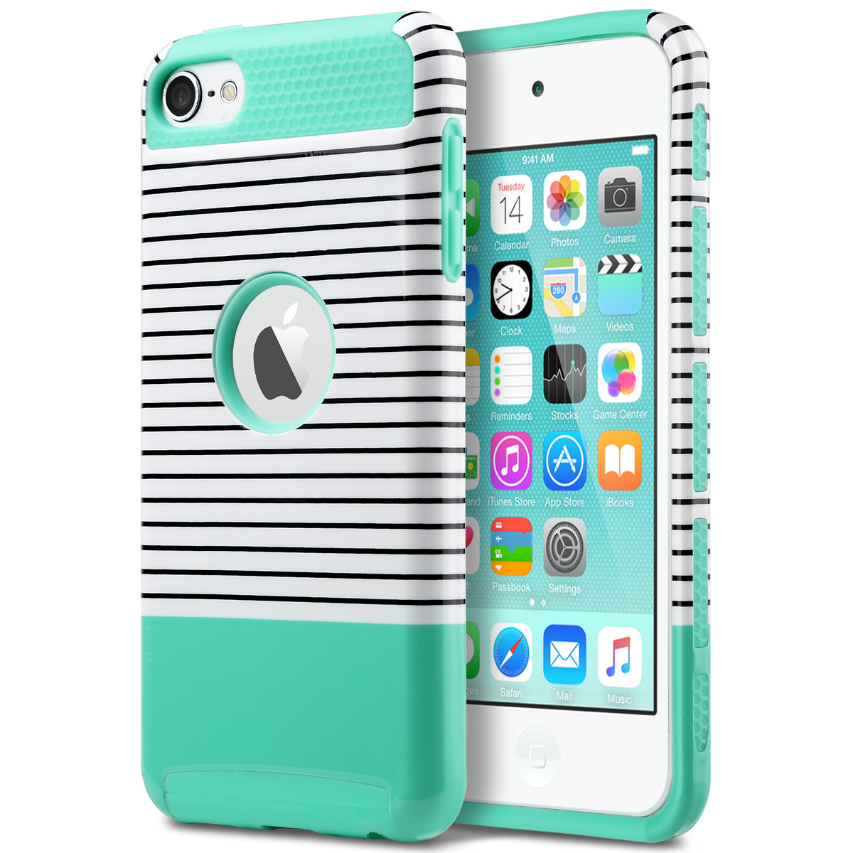 sports shoes 68d6c f3b08 Details about Slim Hybrid Rubber PC Shockproof Impact Hard Case Cover for  iPod Touch 6/5th Gen
