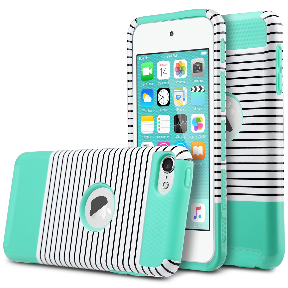 For Ipod Touch 5 6 Gen Case Hybrid Shockproof High Impact Rubber Apple 16gb Blue Slim Hard Cover Ebay