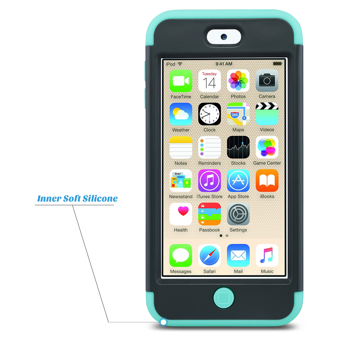 Hybrid-Hard-Protective-Silicon-TPU-Case-for-Apple-iPod-Touch-5-6th-Generation thumbnail 50