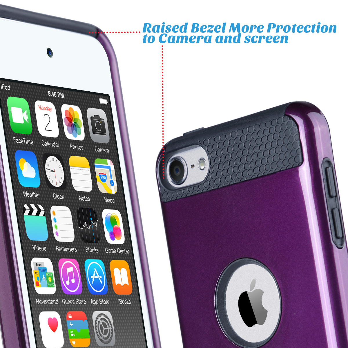 Hybrid-Hard-Protective-Silicon-TPU-Case-for-Apple-iPod-Touch-5-6th-Generation thumbnail 89