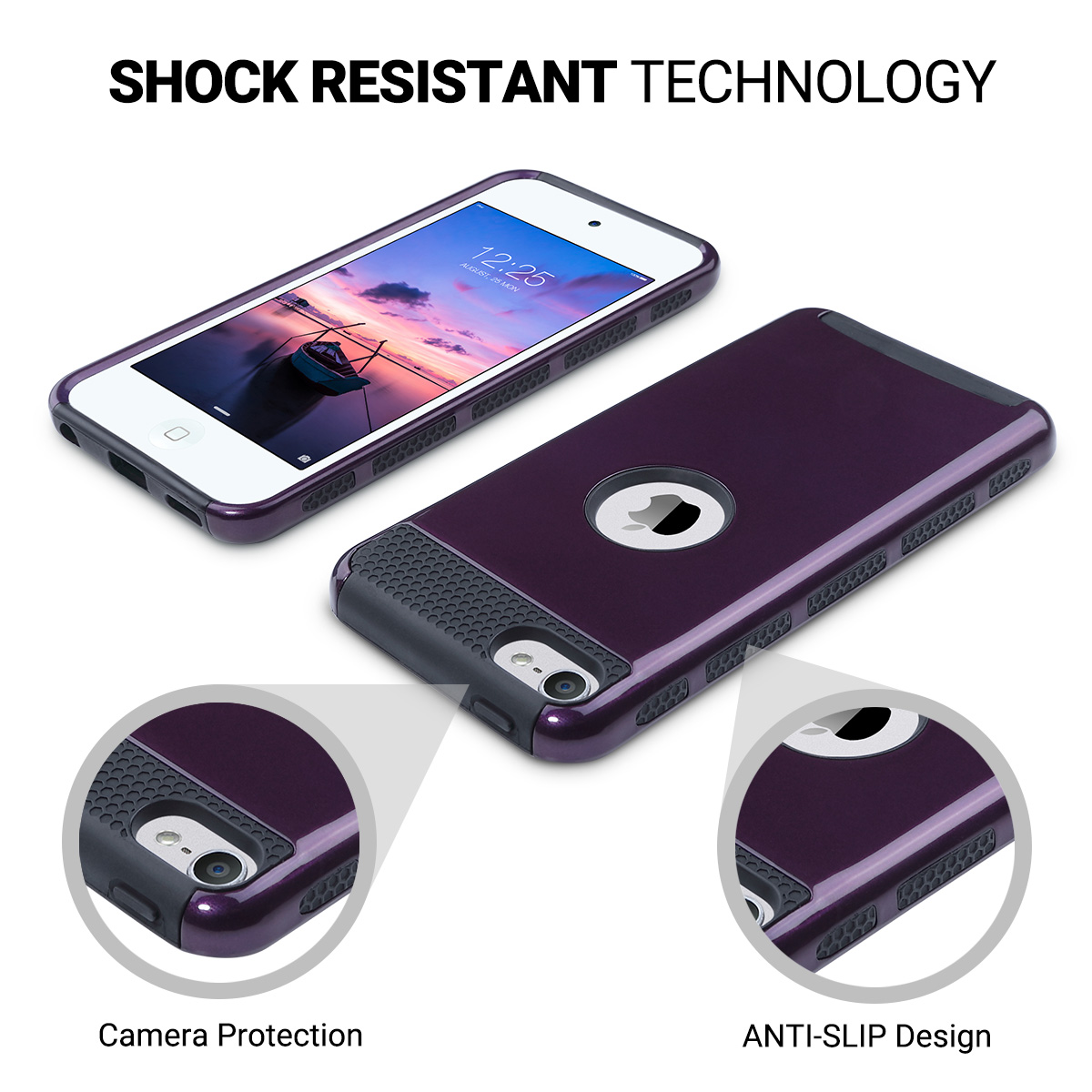 Hybrid-Hard-Protective-Silicon-TPU-Case-for-Apple-iPod-Touch-5-6th-Generation thumbnail 90
