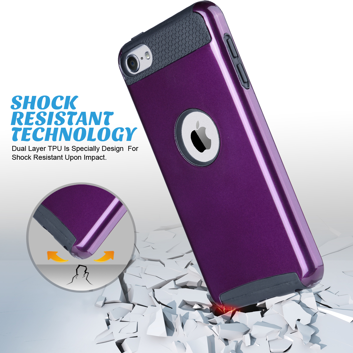 Hybrid-Hard-Protective-Silicon-TPU-Case-for-Apple-iPod-Touch-5-6th-Generation thumbnail 91