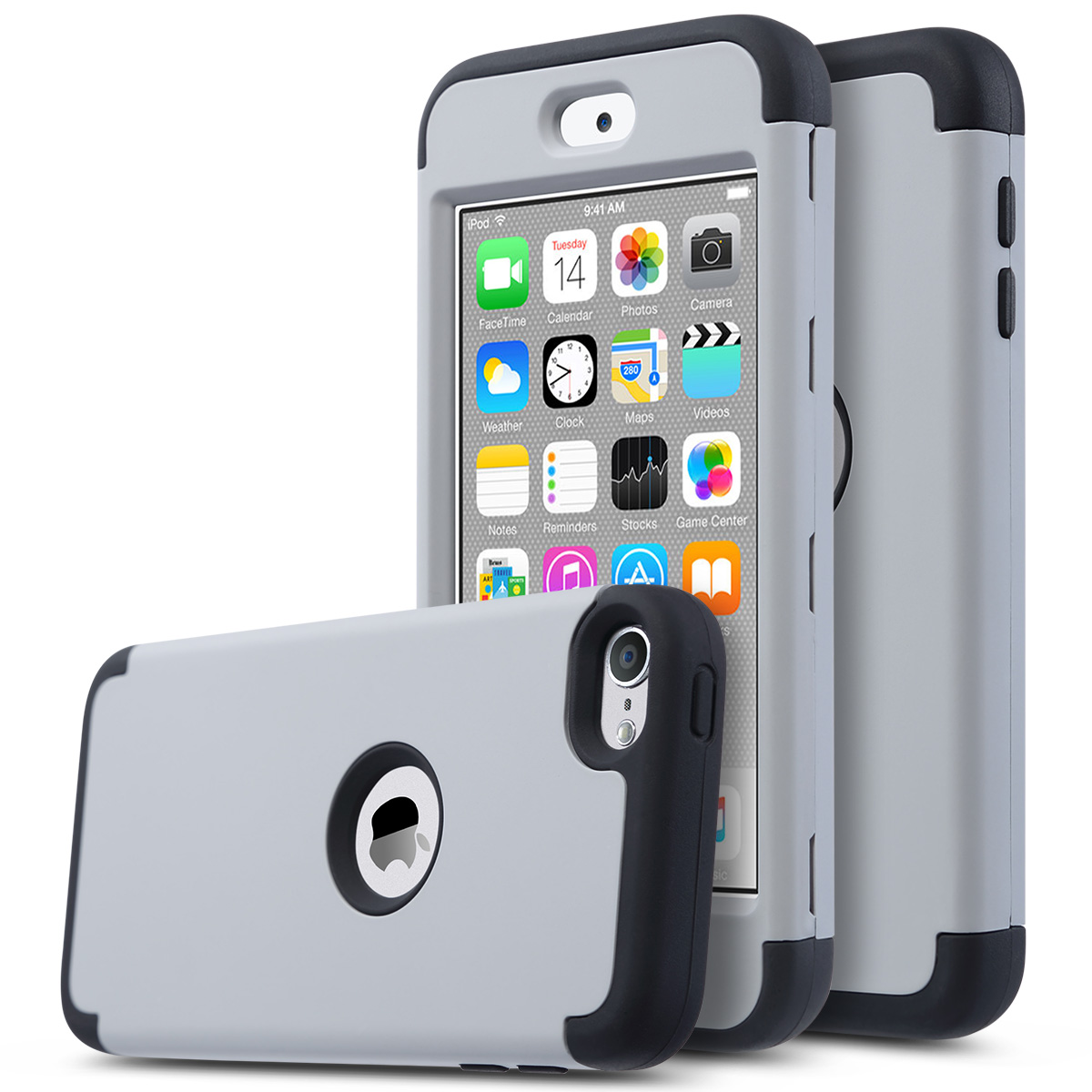 For Apple iPod Touch 5 6th Generation Hybrid Protective ...