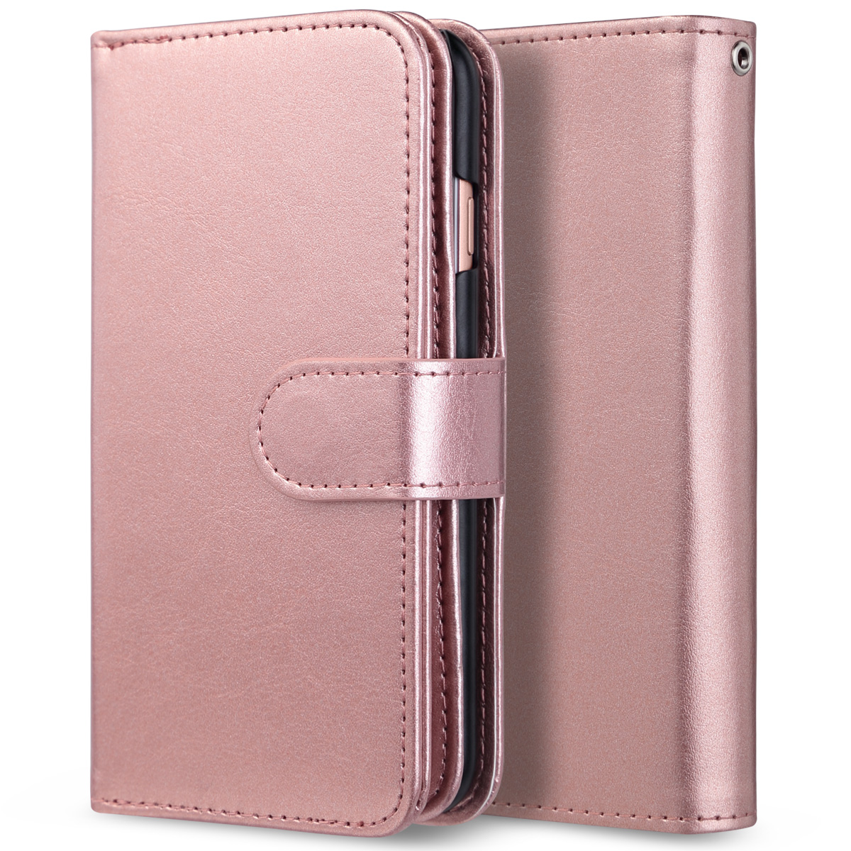 Luxury Magnetic Wallet Leather Slim Card Pocket Case For