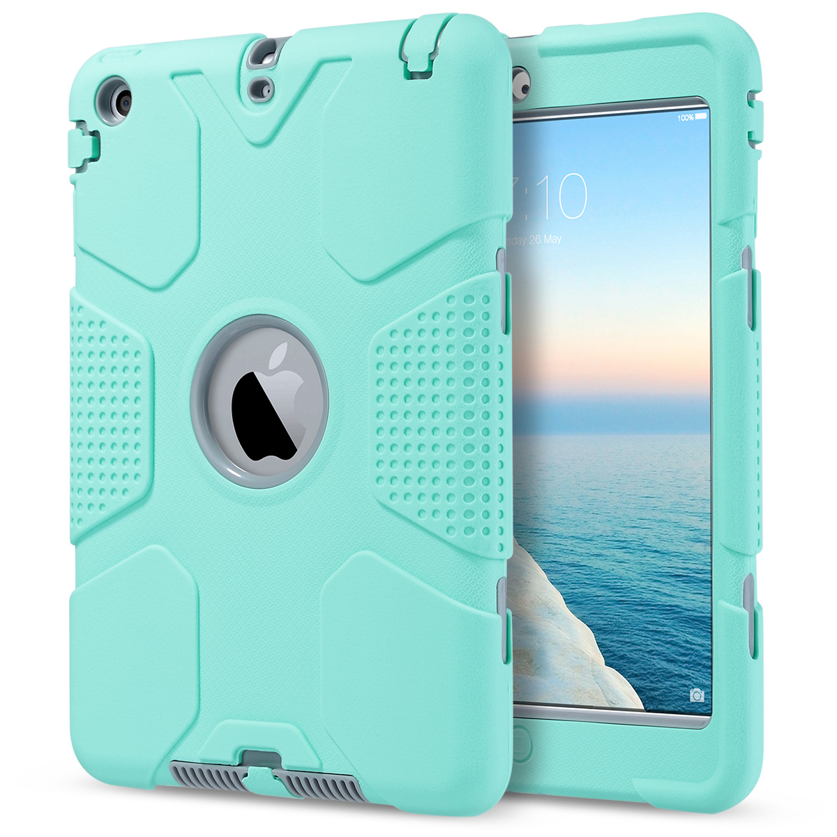 Shockproof heavy duty hybrid hard case cover with for Case stravaganti