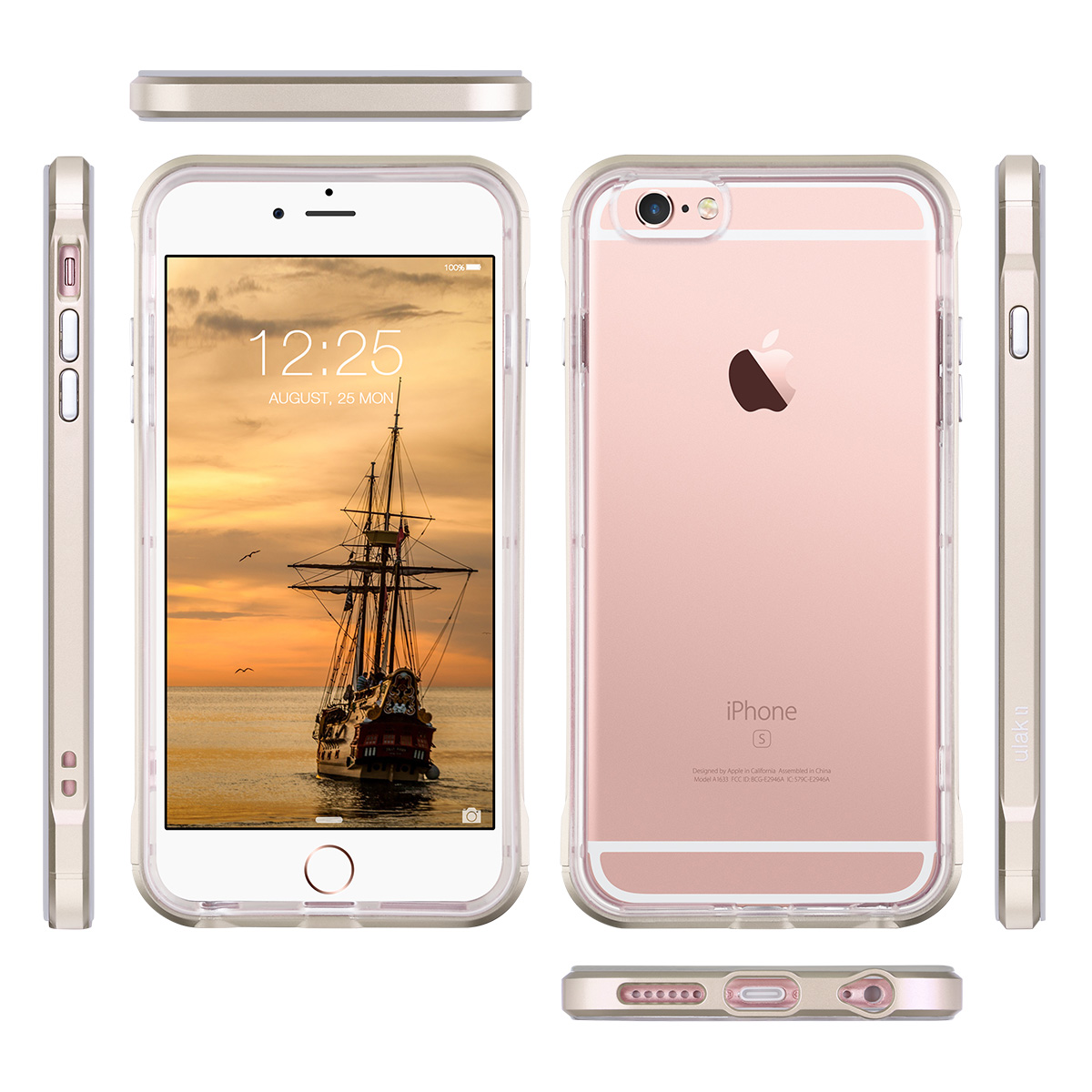 reinforced frame clear back shock absorption tpu cover case for iphone 6 6s 4 7 ebay. Black Bedroom Furniture Sets. Home Design Ideas