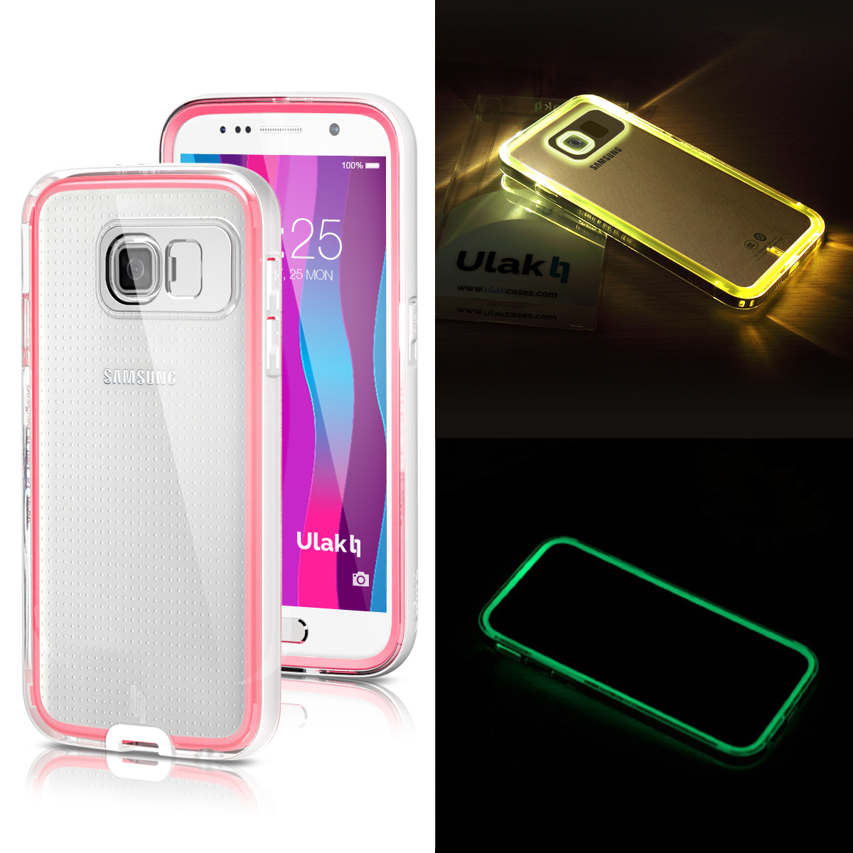 best sneakers a5c8c 334b0 Details about ULAK Lumenair Series Incoming Call Flash Slim Case Cover For  Samsung Galaxy S6