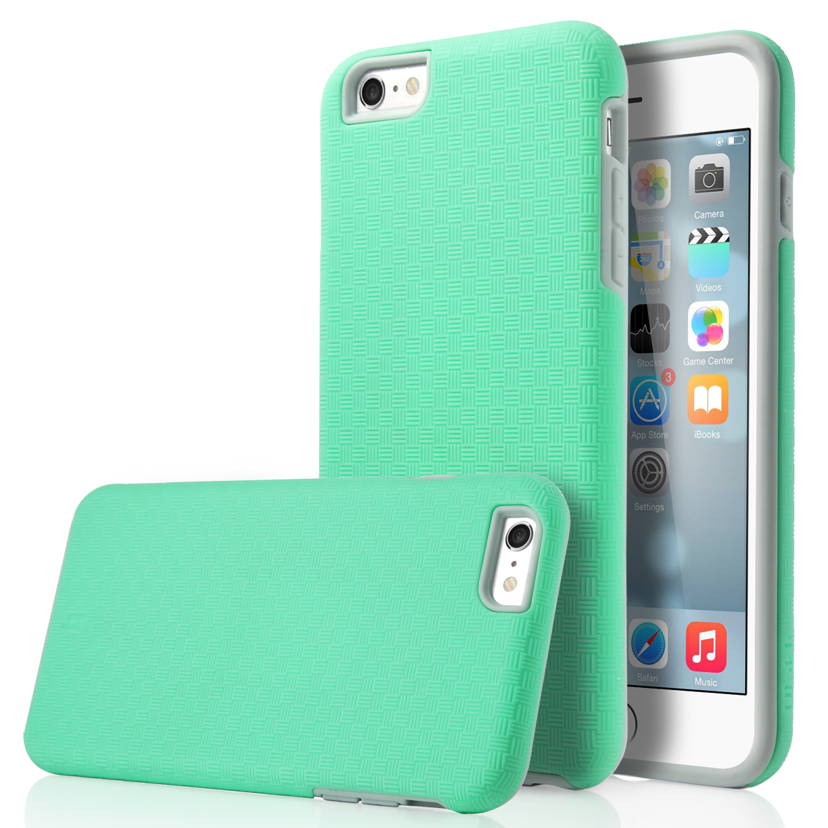 iphone 6 with case shockproof hybrid rubber amp pc dual layer cover 15125